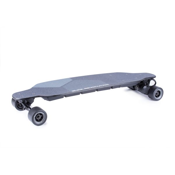 Slick Revolution Flex-2.0 The Slick Revolution Flex-2.0 is the latest and greatest electric longboard made by Slick Revolution.