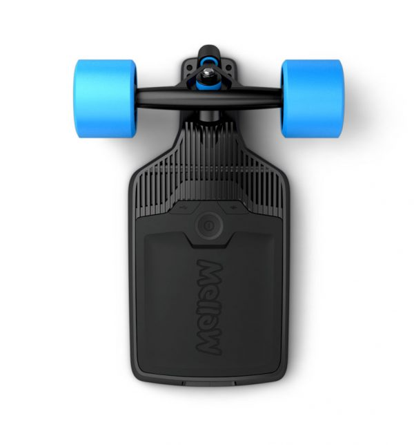 Mellow Drive Mellow is an innovative modular drive system for skateboards that can be mounted under any deck. Just unscrew your rear truck and replace it with the Mellow Drive – simple as that.