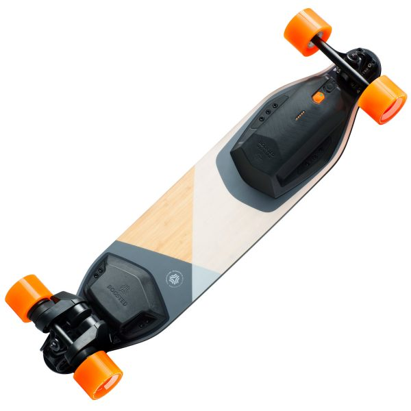 Boosted Boards Plus Boosted Plus is a new take on our classic longboard with refinements in all the right places. The deck sports a wider waist for increased stability and manoeuvrability, improved vibration dampening, and a fine-tuned flex. One ride and you'll see how far we've come.