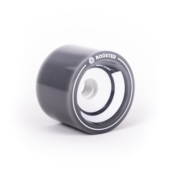 Boosted Stratus wheels 85mm - Grey Sometimes bigger is better. Boosted Stealth comes stock with new, custom-designed Stratus wheels. They spent countless hours studying different core geometries and flex profiles to design a wheel with the right combination of grip, flex, and rebound. At 85mm, these wheels deliver the highest roll speed of any Boosted board to date. The Boosted Stratus wheels 85mm - Grey fit the Stealth and Plus.