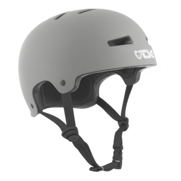 TSG Evolution Helmet Featuring a custom low, snug fit, the Evolution helmet is one of the slimmest hardshell designs available. It features a tough skate-style hardshell construction, which securely protects all the useful bits of your noggin. The design curves anatomically around the head for a great fit and tailored wearing comfort.