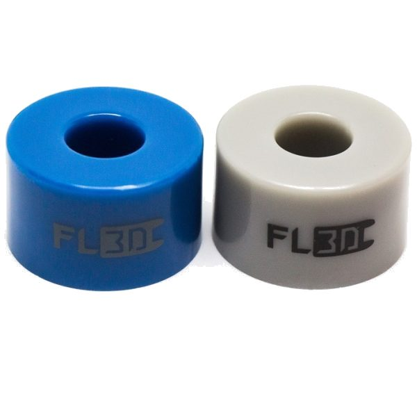 "FL3D Pro Bushings FL3D Pro Bushings are professional quality urethane at an economy price.  Skateboard Bushings are not ""one size fits all,"" and installing the proper hardness for your weight and riding style is the easiest and most impactful way to dial in the feel of your ride. Choose a 15mm Barrel or an 11mm Cone depending on your truck style and mounting location.  We offer a ""Hard"" Blue (92A hardness) and a ""Soft"" Grey (84A hardness). These provide options on either end of the spectrum from typical medium durometers that come stock on the big name boards (Boosted and others ship with hardnesses in the mid/upper 80's).  Boosted Boards (V1, V2 and V3) have two barrels on each truck, for a total of four barrels on the board. FL3D bushings are sold in pairs of two, so double check your order quantity!"