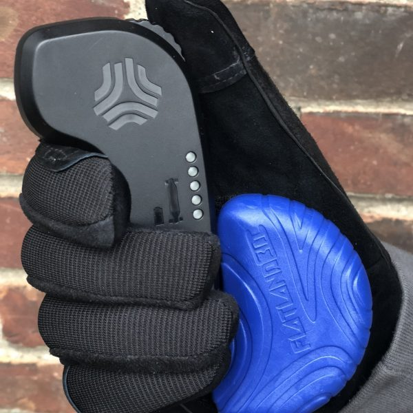 """E-Skate Slide Puck The flatland3d E-Skate Slide Puck is the first slide puck designed with room to hold an e-skate remote. Standard """"hook and loop"""" backing allows it to attach to most typical longboarding slide gloves.  Flatland 3D designed the E-Skate Slide Puck to be used in tandem with a Retractable Remote Lanyard. The lanyard allows the rider to drop the remote securely to their hip before attempting a slide. This setup is great for advanced riders who want to take e-skate sliding to the next level, or beginners who want to add sliding to their bag of tricks.  The E-Skate Slide Puck was created as a collaboration with Ash Laughlin.Ash is a designer and enthusiastic e-skater who loves to make e-skating a better sport through design.  Longboarding slide gloves are not included."""