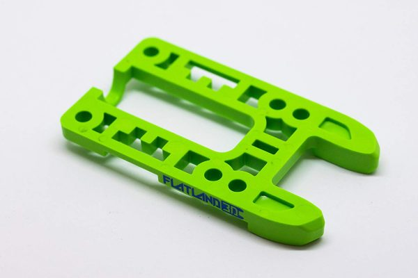 Bash Guard M for Boosted Boards Green (open) Designed as a direct replacement for the stock riser on your Boosted Board, the Bash Guard M orange with round edge will provide protection to the nose or tail of your deck without any effect to the ride feel or dynamics.  Color: Green Edge: Pronger (open)  Includes Cable Clips