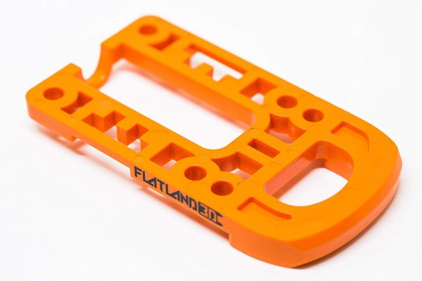 Bash Guard M for Boosted Boards Orange (round) Designed as a direct replacement for the stock riser on your Boosted Board, the Bash Guard M orange with round edge will provide protection to the nose or tail of your deck without any effect to the ride feel or dynamics.  Color: Orange Edge: Round  Includes Cable Clips