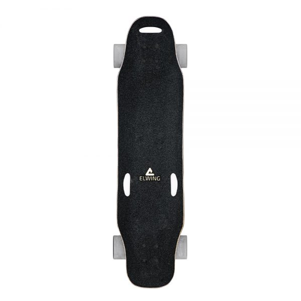 Elwing Halokee Halokee is a great electric longboard for those who want to cruise and coast easily around the city. With a top speed of 32 km/h at only 5.5 kg, it's a comfortable & powerful carving machine.