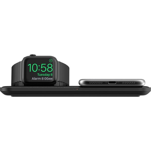 NOMAD Base Station - Apple Watch Edition Designed to be the premium personalized charging experience for Apple Watch, iPhone, and AirPod owners. Base Station Apple Watch integrates a sleek, modern design with a functional wireless charging hub. With 3 high-power charging coils and a built-in Apple Watch charger, Base Station Apple Watch creates a frictionless charging experience.