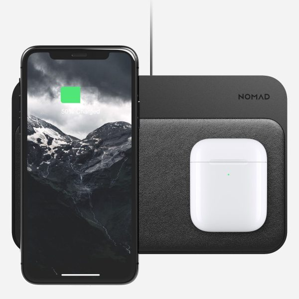 NOMAD Base Station - Hub Edition Base Station Hub integrates a sleek, modern design with a highly functional charging hub. With 3 high-power charging coils, Base Station Hub can charge 1 or 2 phones wirelessly. There are also two out ports: one USB-A and one USB-C PD with an 18W output capacity.