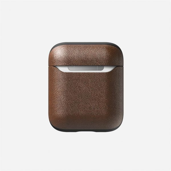 Nomad AirPods Case – Rustic Brown Leather Designed to give your AirPods a classic, yet bold new look. This minimalist, two-piece Rugged Case is built with genuine, vegetable-tanned leather from one of America's oldest tanneries. The leather is designed to beautifully patina with time, creating an AirPods case truly unique to you.  Designed for AirPods  Horween leather from the USA  Develops a rugged patina  Two-piece construction  Works with AirPods and AirPods with Wireless Charging Case  Note: LED indicator is covered on AirPods with Wireless Charging Case