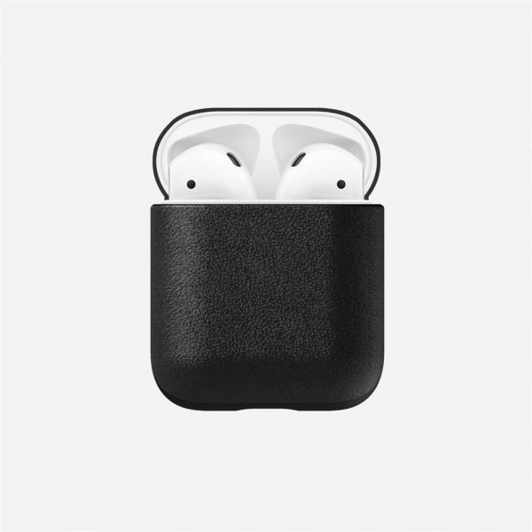 Nomad AirPods Case - Black Leather Designed to give your AirPods a classic, yet bold new look. This minimalist, two-piece Rugged Case is built with genuine, vegetable-tanned leather from one of America's oldest tanneries. The leather is designed to beautifully patina with time, creating an AirPods case truly unique to you.