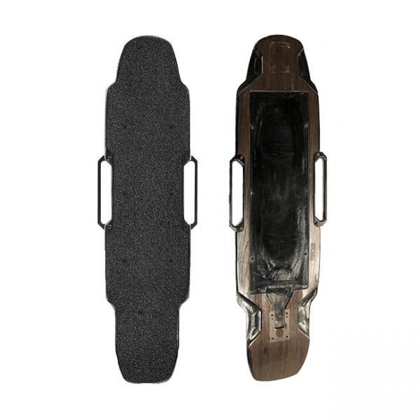 Raptor 2.1 deck Original and new Raptor 2.1 deck to replace or repair your Raptor. Very limited stock available. The micro drop on the front really locks you in when you're riding. The carry handles are a huge plus. You don't want a deck that flexes if your board is capable of going 30 mph.  This product is leftover stock and does not come with warranty or replacements.
